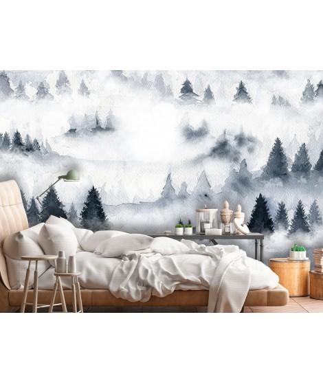 Mural de papel pintado BOSQUE NIEBLA