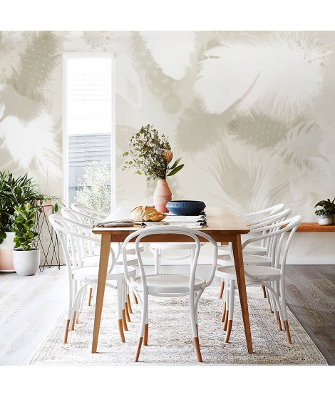 PLUMAS Mural de papel pintado