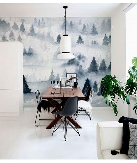 BOSQUE NIEBLA Mural de papel pintado