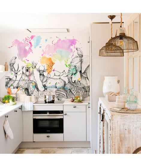 MAPA MUNDI COLORS Mural de papel pintado