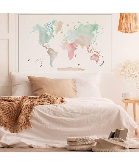 POSTER Mapa Mundi colors pastel