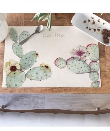 "MANTEL INDIVIDUAL ""Cactus I"""