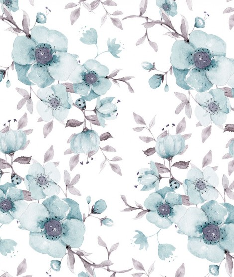 FLORES AZUL Wallpaper