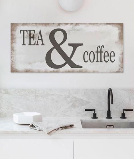 Cartello Decorativo TEA AND COFFEE