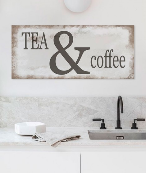 Letrero TEA AND COFFEE